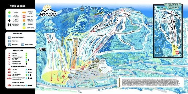 Hunter Mountain trail map