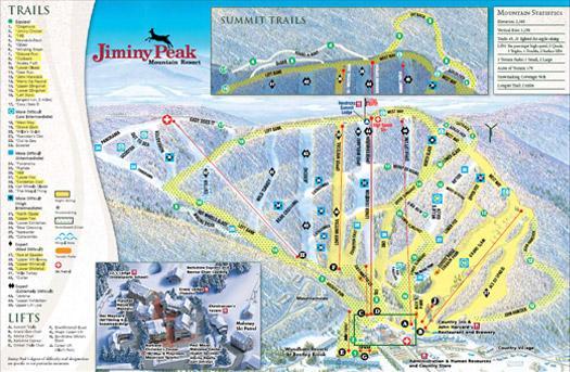 Jiminy Peak Mountain Resort trail map