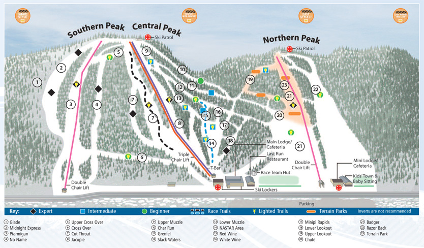 Labrador Mountain trail map