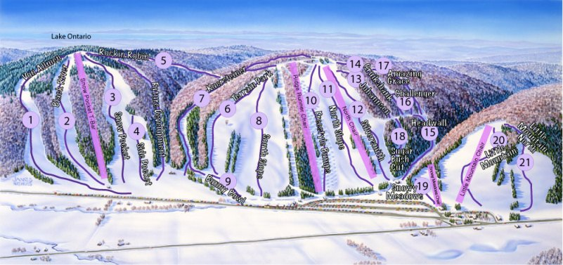 Snow Ridge Ski Area trail map
