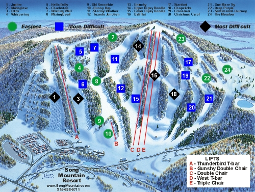 Song Mountain Resort trail map