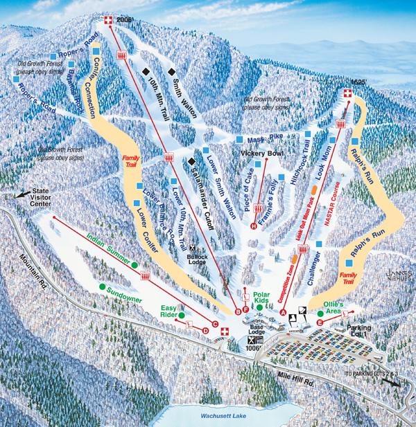 Wachusett Mountain Ski Area trail map