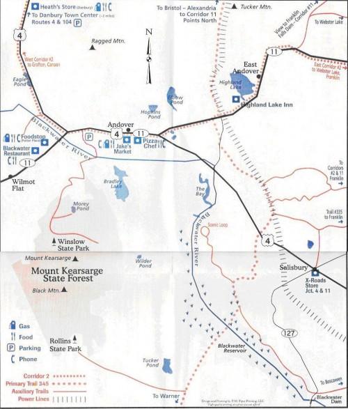 Andover Snowmobile Club trail map