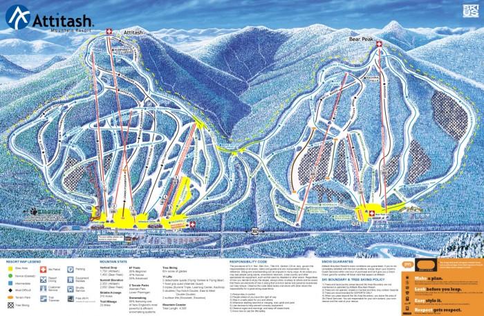 Attitash trail map