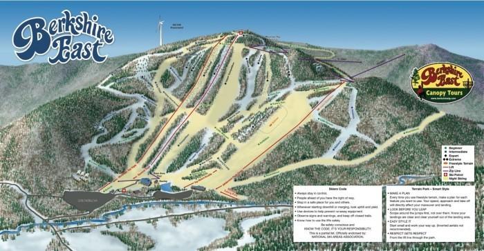 Berkshire East Ski Area trail map
