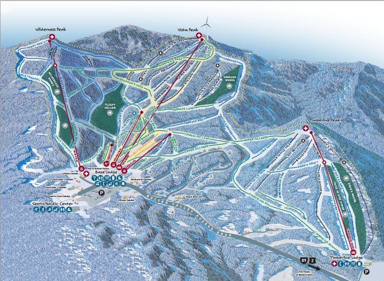 Bolton Valley Resort trail map