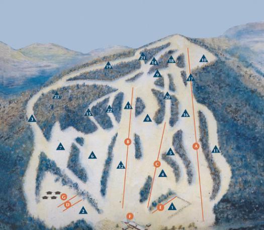 Bousquet Ski Area trail map