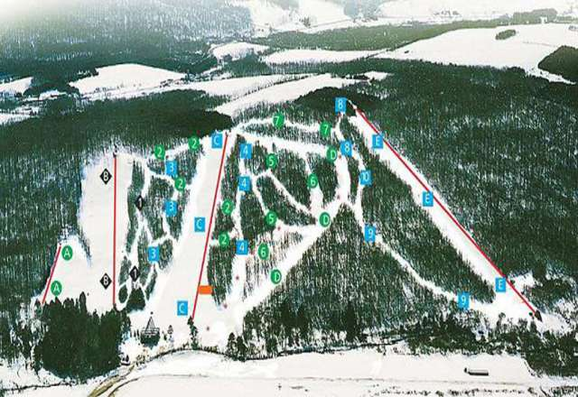 Cockaigne Ski Area trail map