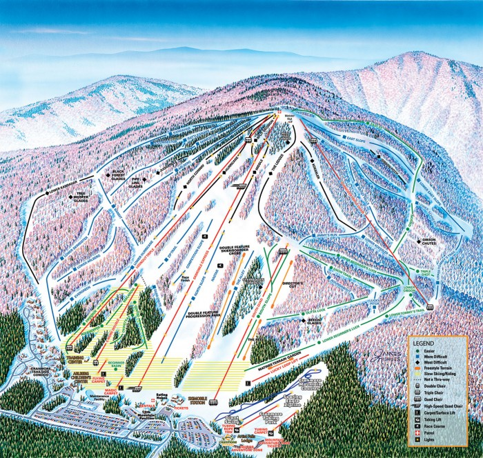 Cranmore Mountain Resort trail map