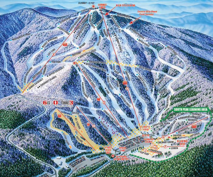 Mount Sunapee trail map
