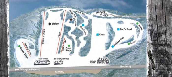 Otis Ridge Ski Area trail map