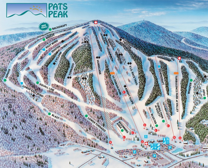 Pats Peak Ski Area trail map