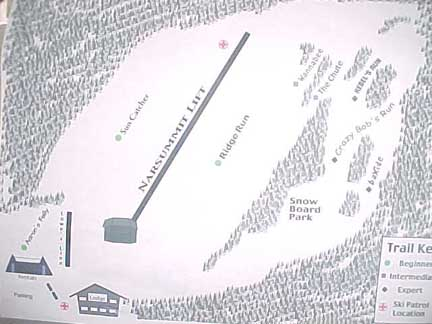 Pine Ridge Snow Park trail map