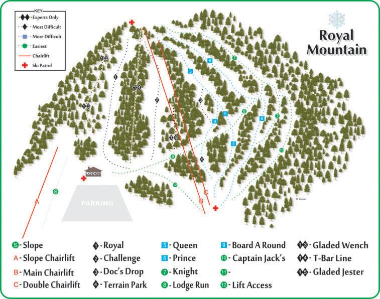 Royal Mountain trail map