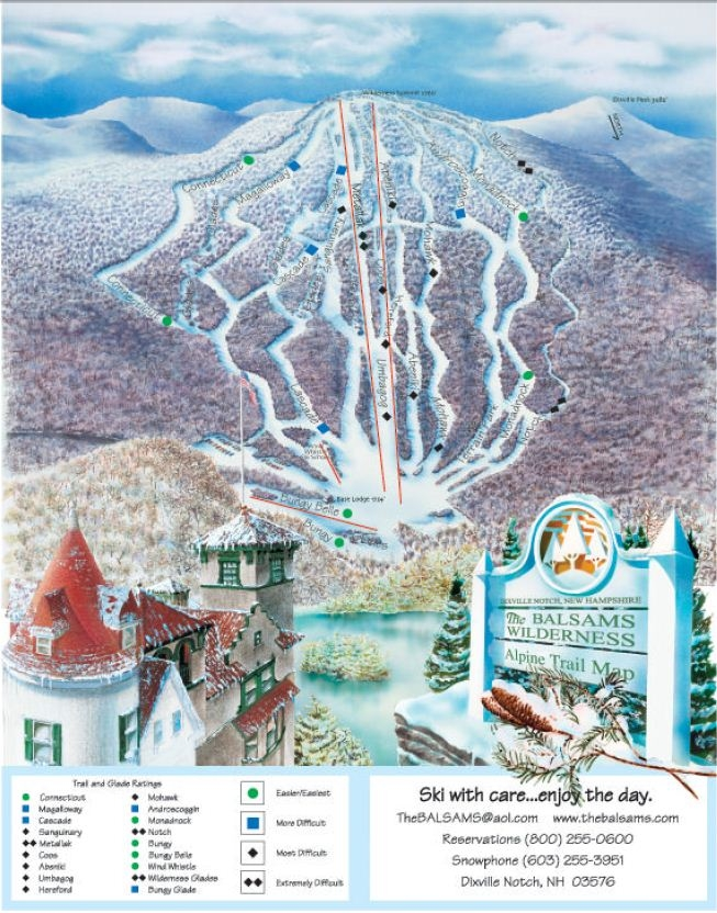 The Balsams trail map