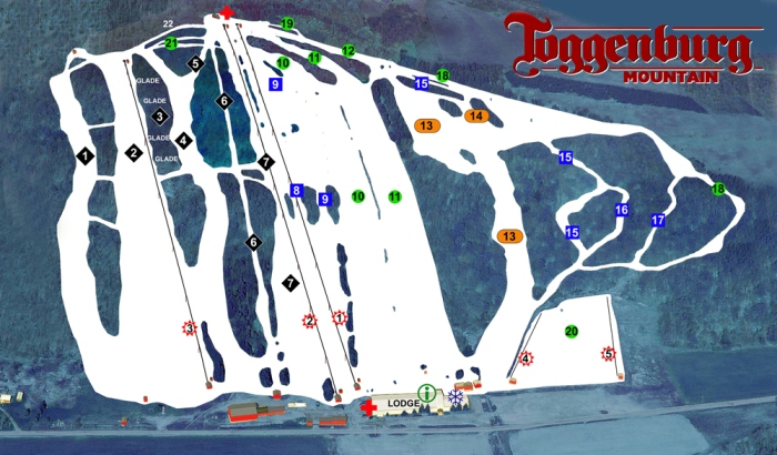 Toggenburg Mountain Ski Center trail map