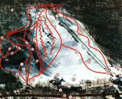 Woodbury Ski Area trail map